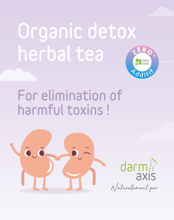 Detox herbal tea with digestive and purifying virtues. For toxins eliminations